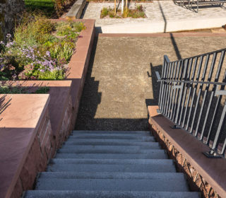 Großanlage Treppenabgang